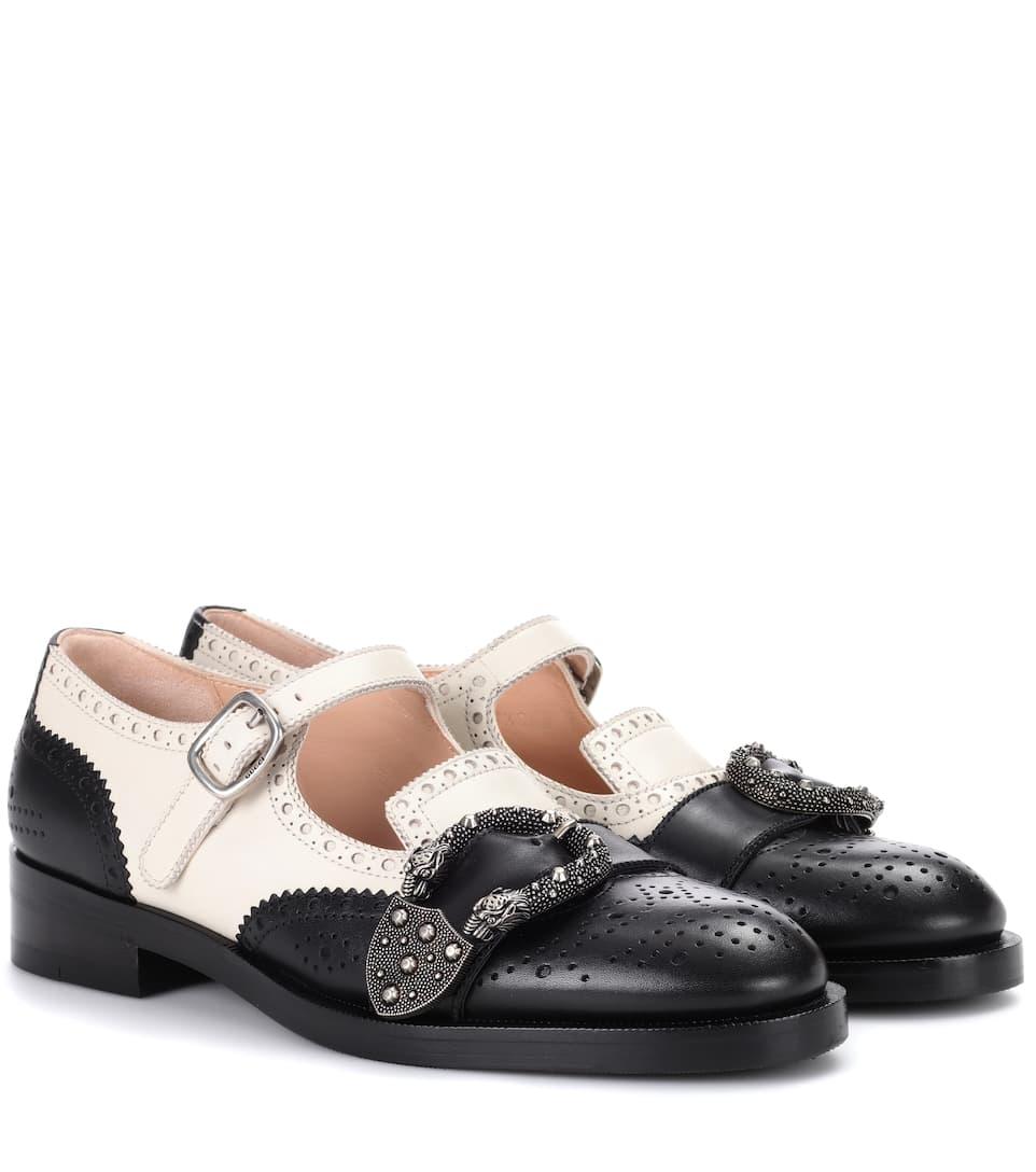 17cc28ea662546 Queercore Brogue Monk Shoes - Gucci