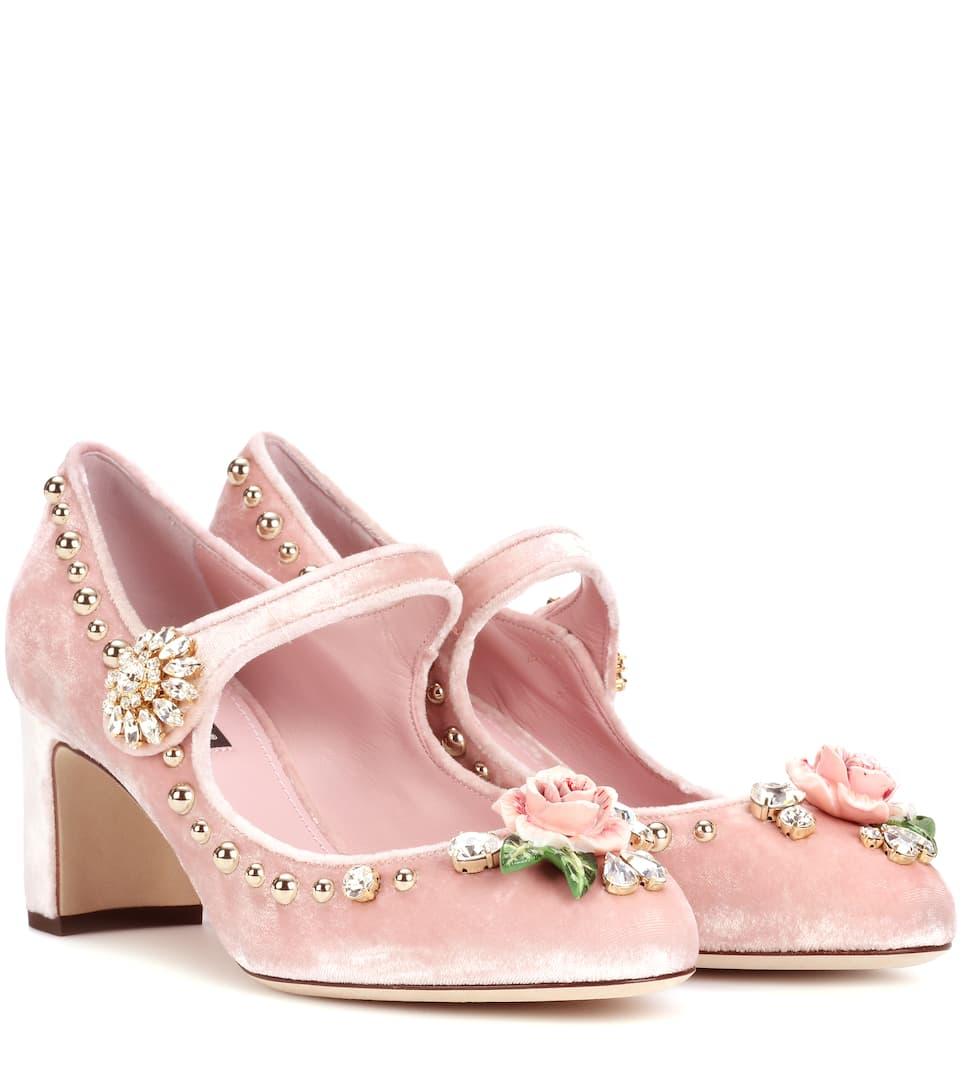 Dolce & Gabbana Mary Jane Pumps aus Samt