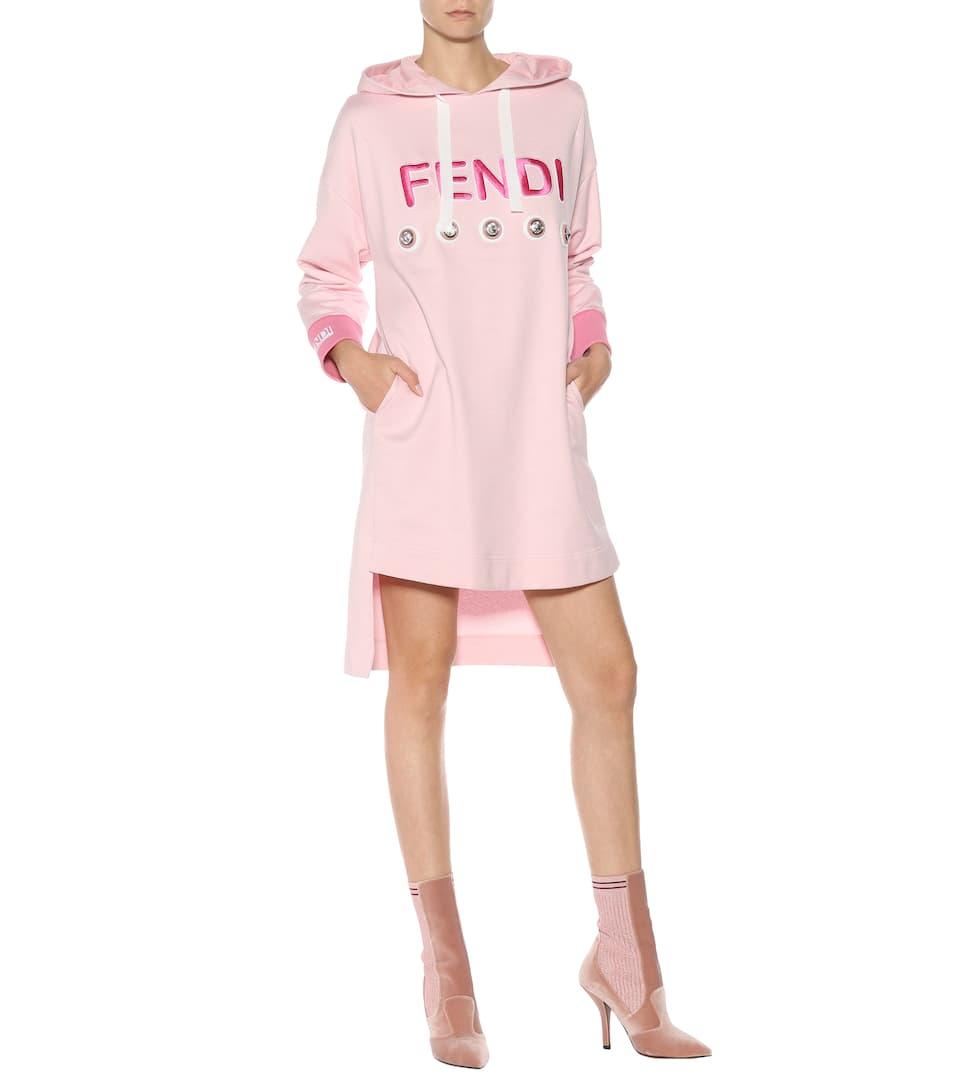 Glamour con adornos mytheresa de Exclusivo sudadera para Vestido Fendi com xg0ASz0wq