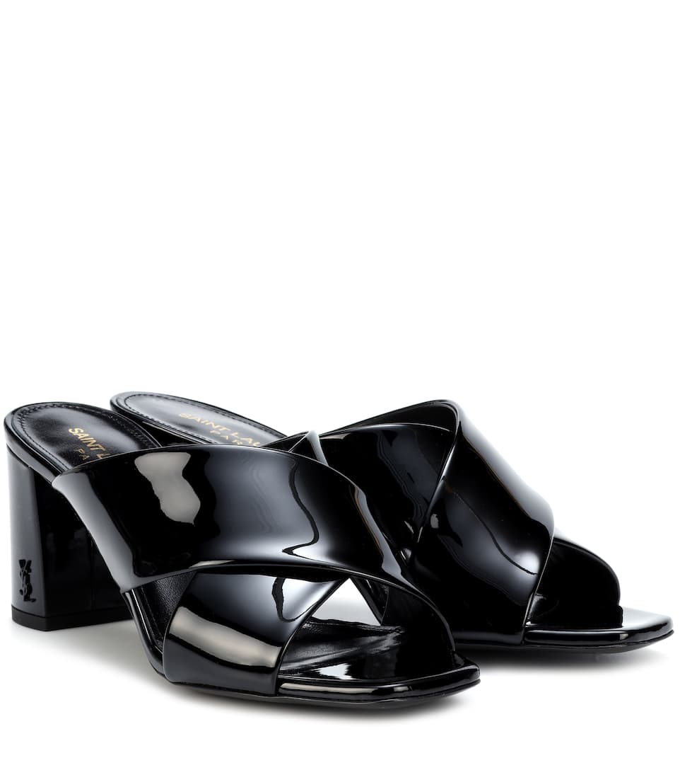 Clearance Visit New Many Kinds Of Saint Laurent LouLou 70 patent leather sandals Noir Deals o3mqC3oJoy