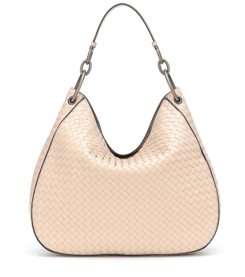 Loop Intrecciato Leather Shoulder Bag - Bottega Veneta  90b3f1fb2a72e