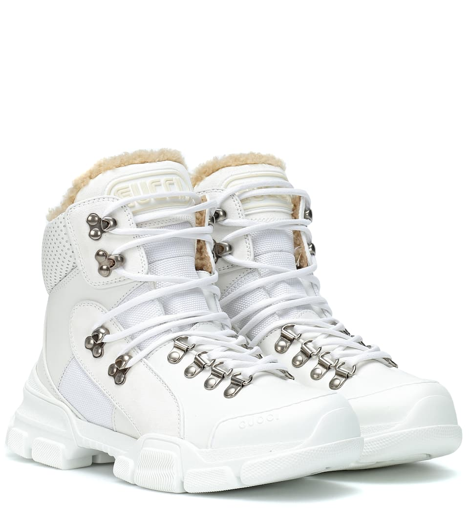 fc64ac0c71 Flashtrek High-Top Leather Sneakers - Gucci | mytheresa.com
