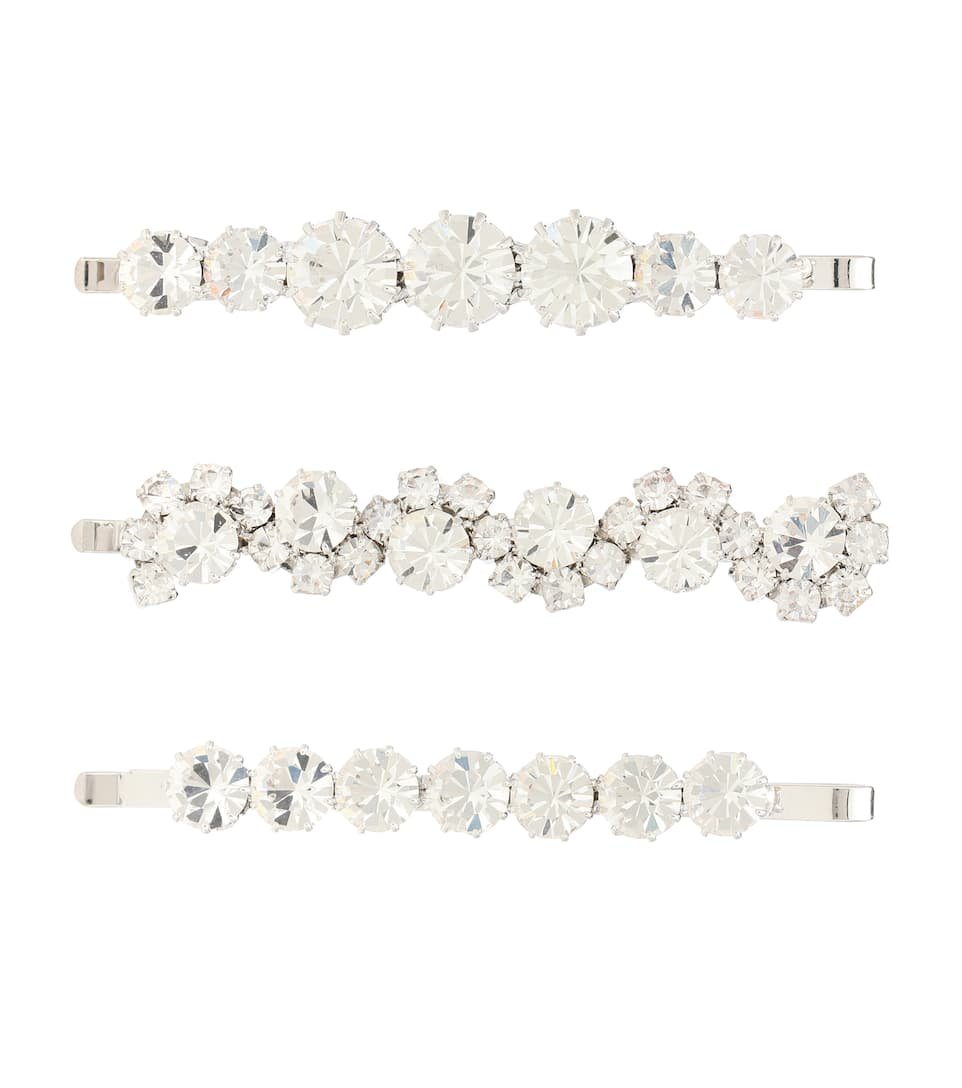 Set Of 3 Crystal Hair Slides by Alessandra Rich