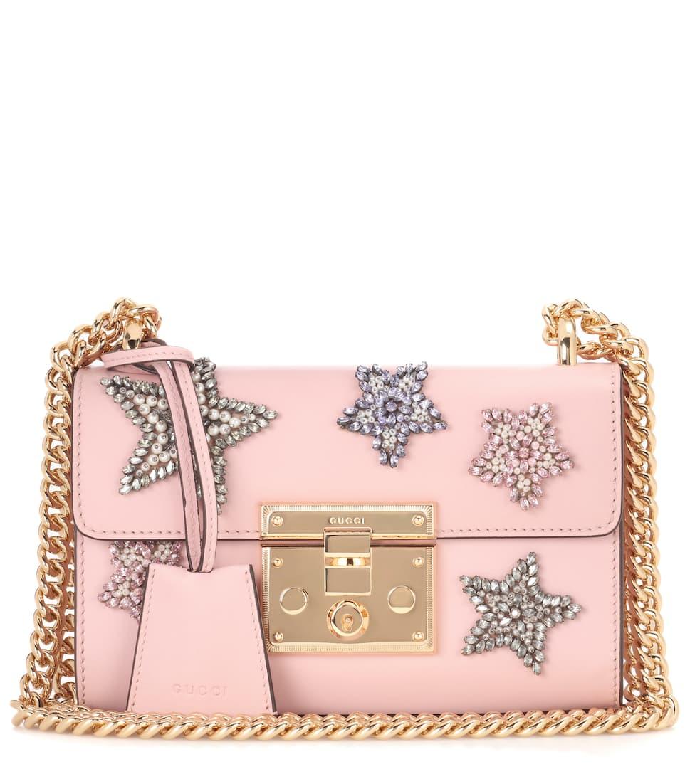 Günstig Kaufen Preis Gucci Verzierte Schultertasche Padlock aus Leder Mode Online bVIdukZImA