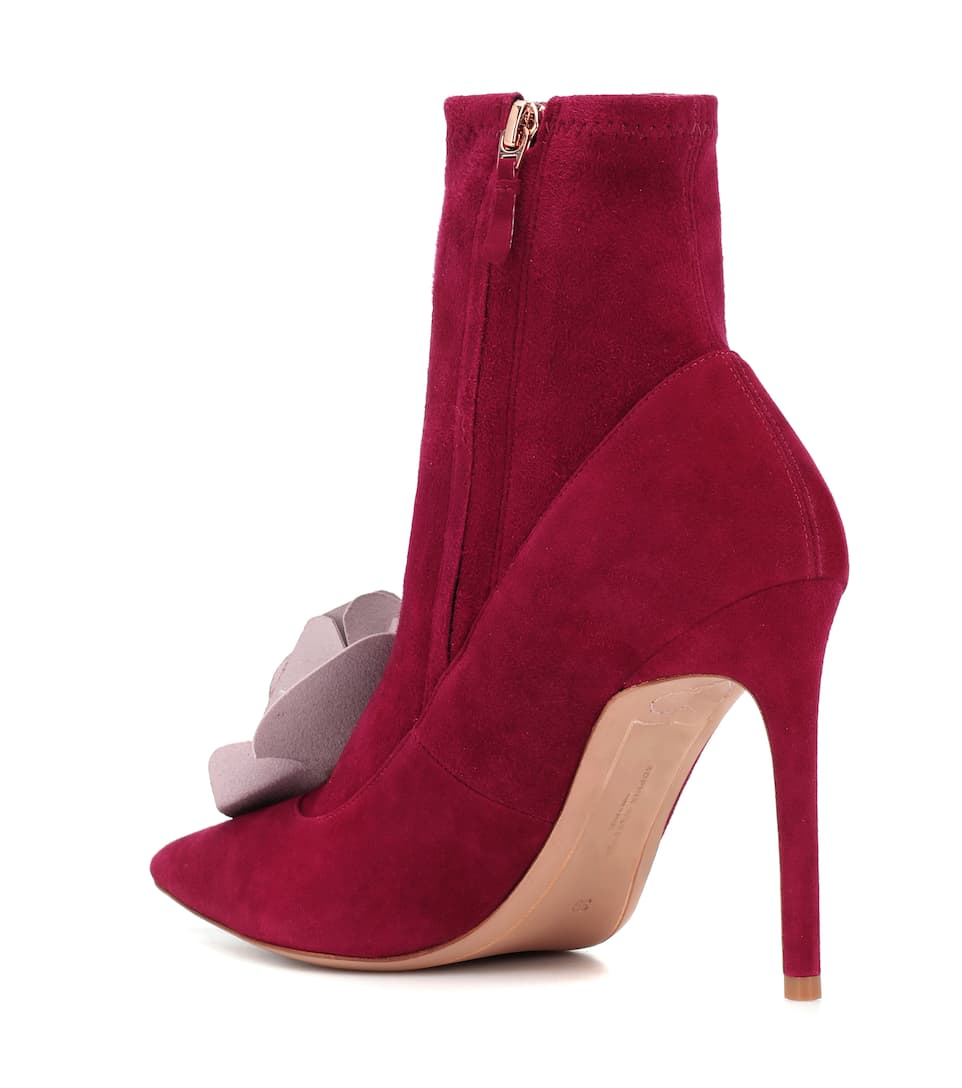 Exclusive to Mytheresa – Jumbo Lilico suede and leather ankle boots