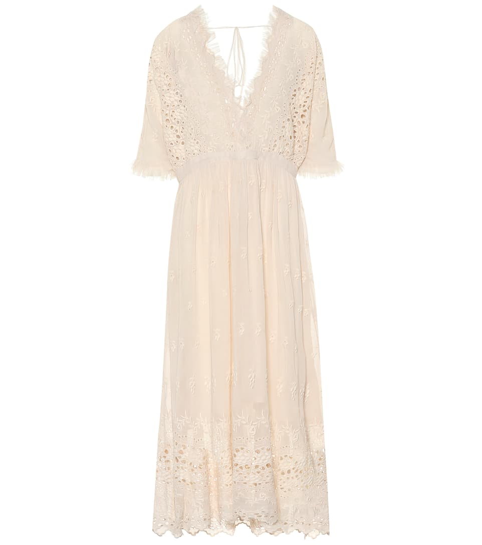 Embroidered Midi Dress by Love Shack Fancy