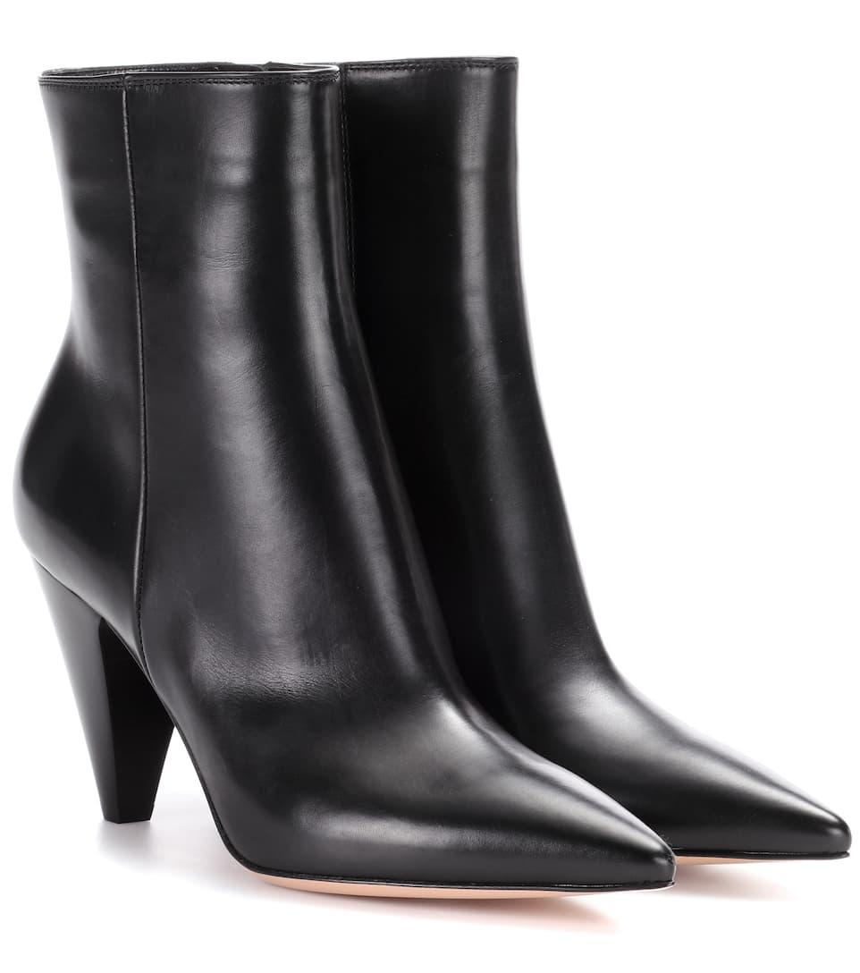 Gianvito Rossi Leather ankle boots Verkauf Niedriger Versand Auslass Perfekt LwoiWqMw