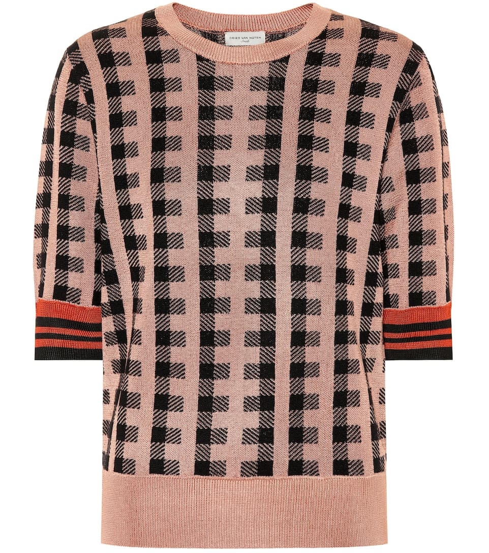 Dries Van Noten Short-sleeved Pullover Jayanti From Jacquard