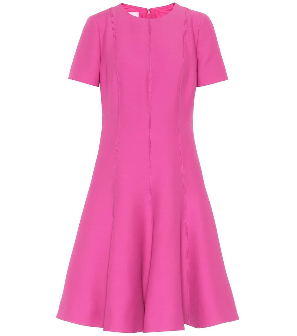 virgen de y lana Valentino rosa seda Vestido sombra qS4Uwxq