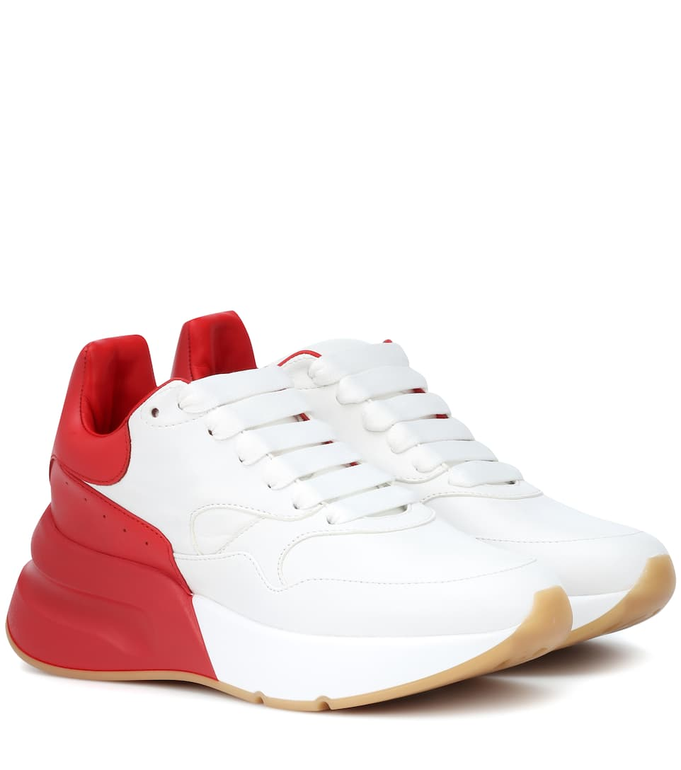 Oversized Runner leather sneakers