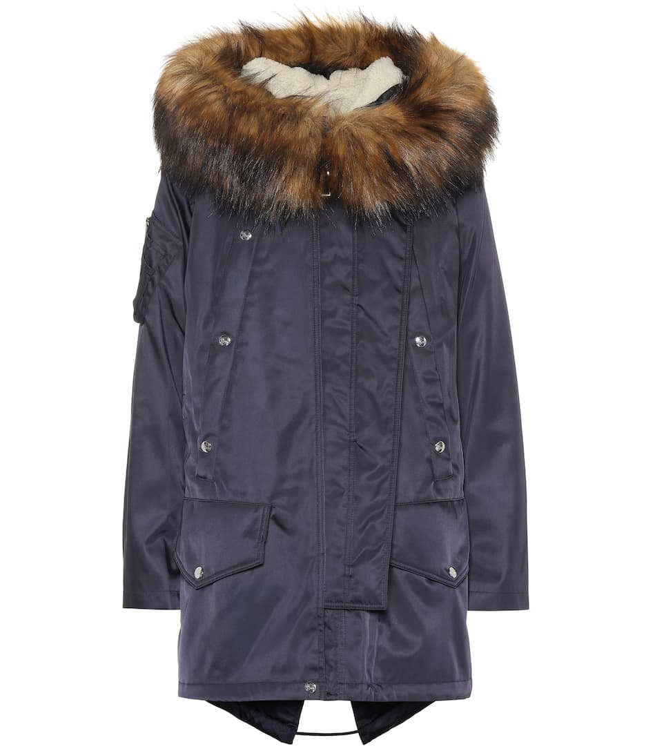 Burberry - Parka à capuche et finitions en fourrure synthétique   Mytheresa bc654317f3c