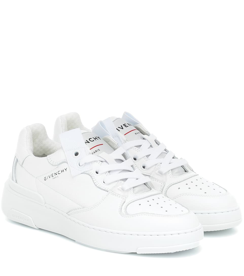 Givenchy The Wing Grained-leather Trainers In White