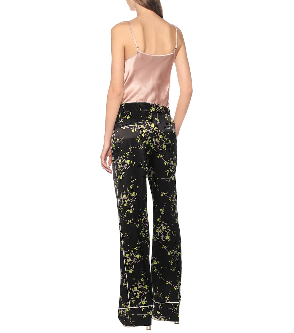 Dorothee Schumacher - Cherry Blossom silk-satin pants