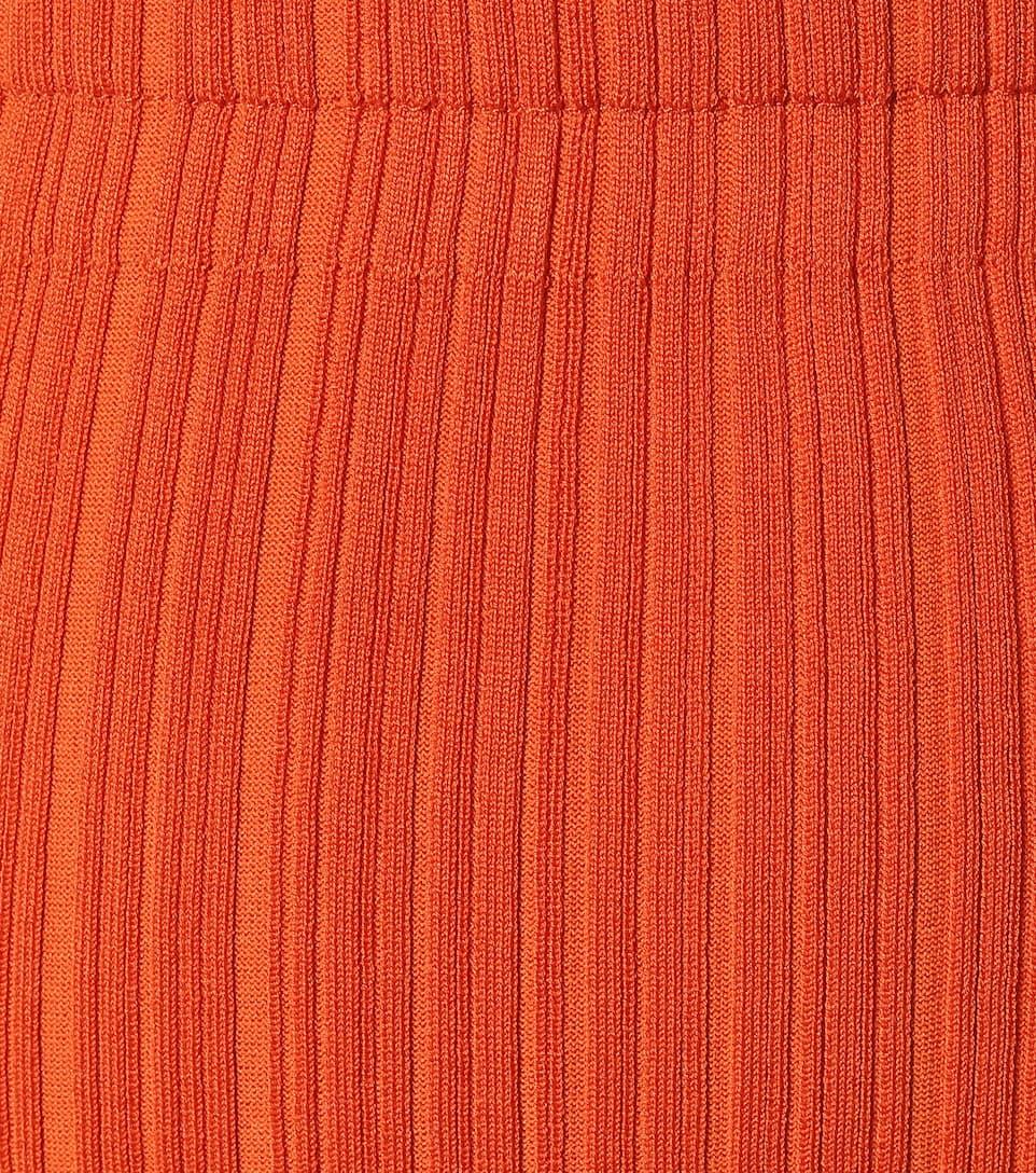 Acne Studios - Ribbed-knit midi skirt