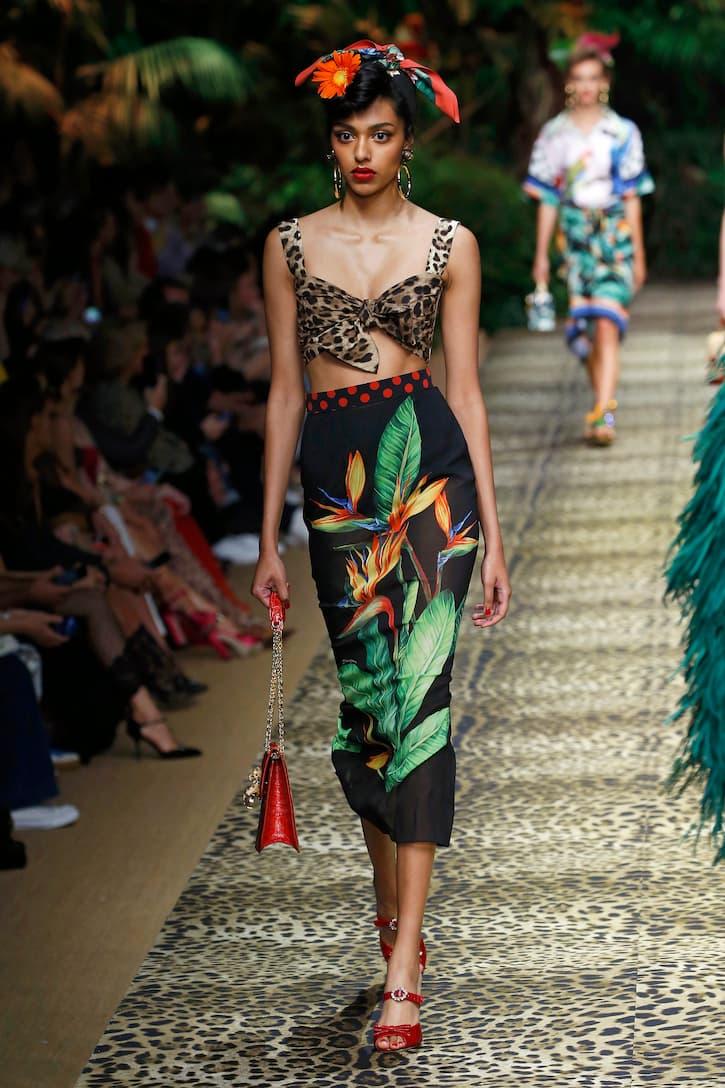 레오파드 프린트 코튼 뷔스티에 | Dolce & Gabbana - Mytheresa