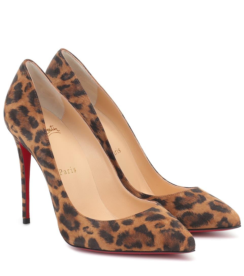 Pigalle 100 Leopard Suede Pumps