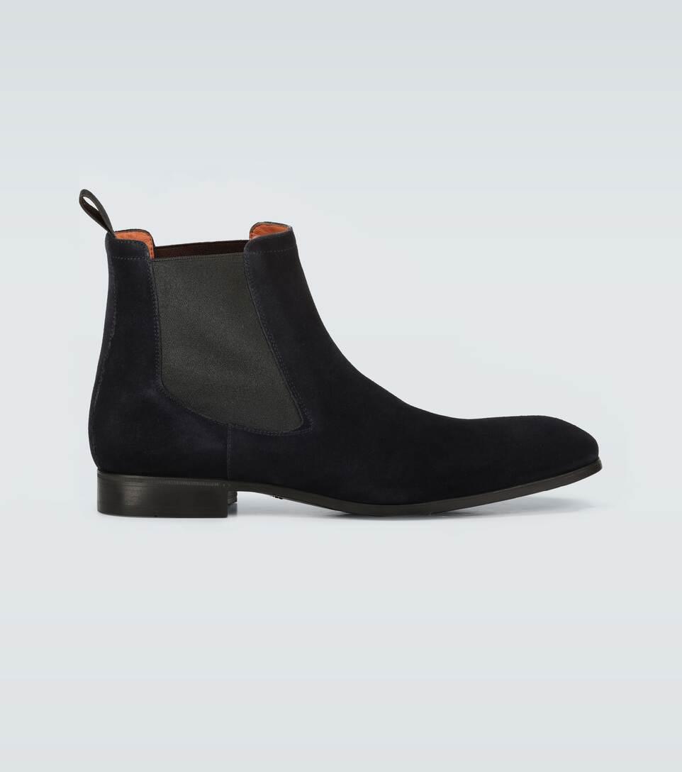 Santoni - Suede ankle boots   Mytheresa