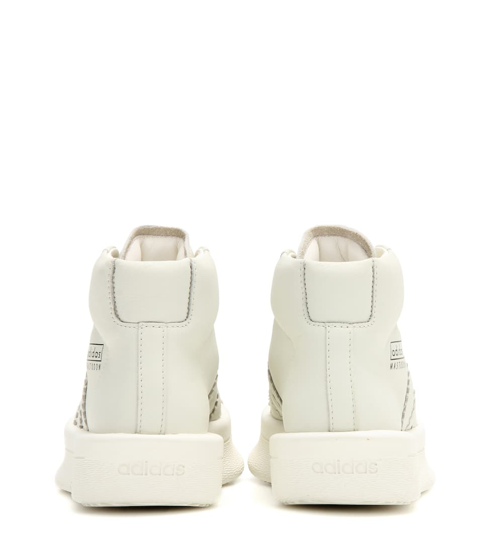 6139da3d0521 Adidas by Rick Owens - Mastodon Pro Model leather high-top sneakers ...