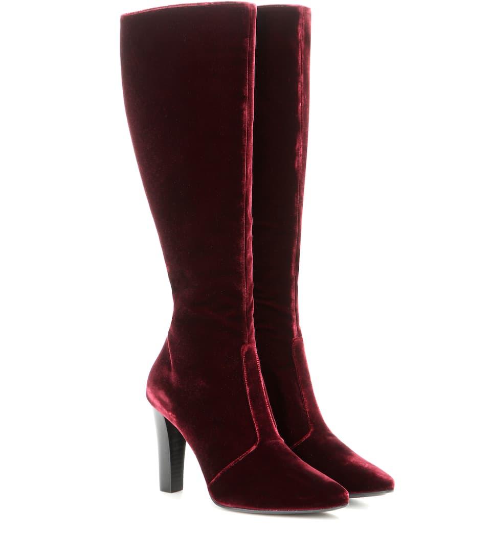 Saint Laurent Stiefel Lily 95 aus Samt