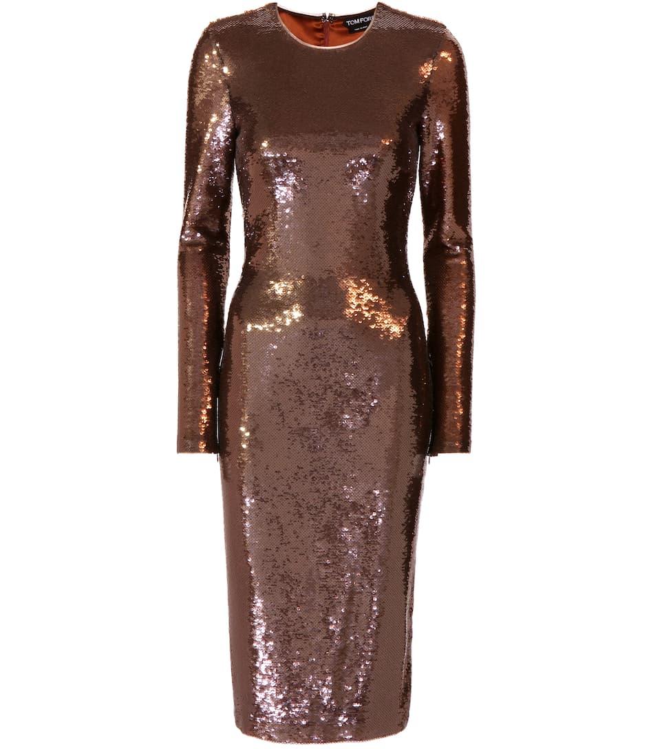 Tom Ford Kleid mit Pailletten Bilder YFzFw4