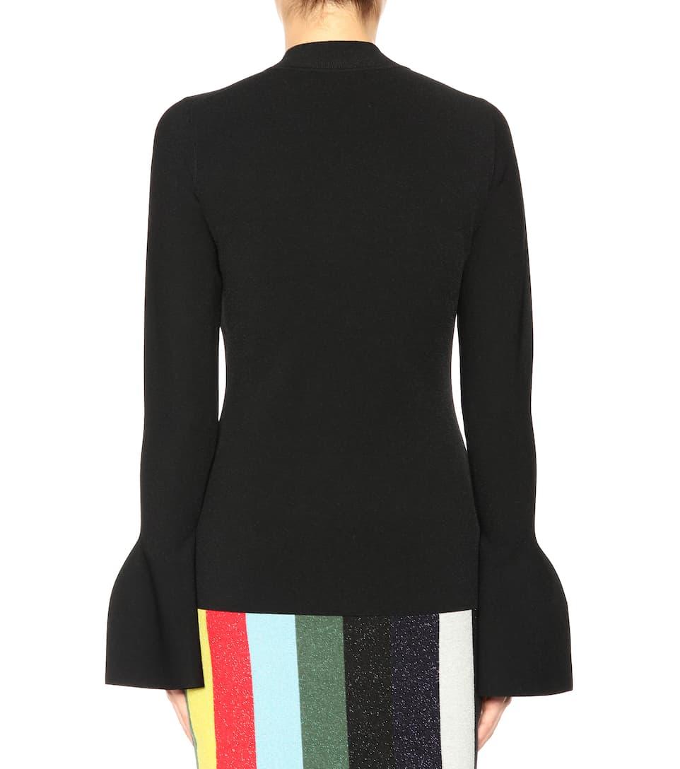 Diane von Furstenberg Langarmshirt mit ausgestellten Ärmeln