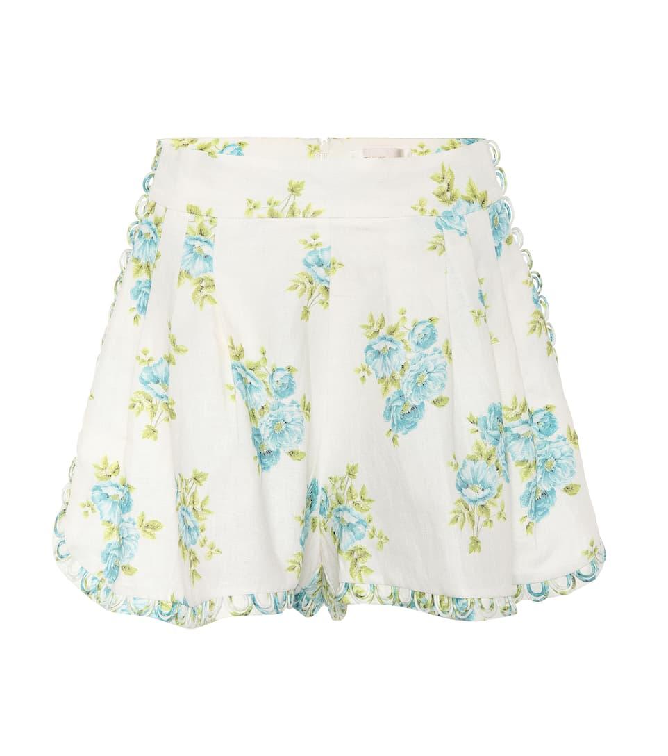 Zimmermann Bedruckte Shorts aus Leinen Günstig Kaufen Ebay Bestseller Verkauf Online m10lax