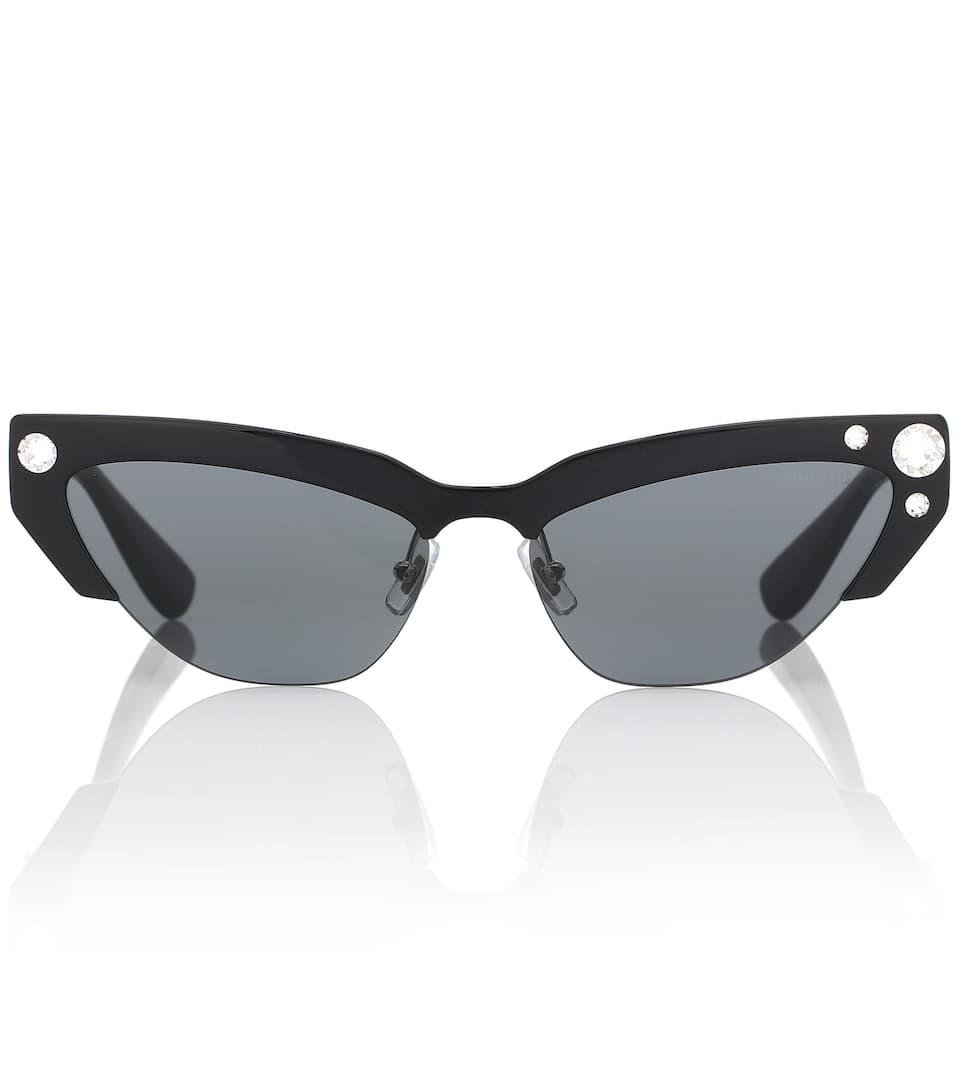 e148b194b9be Embellished Cat-Eye Sunglasses - Miu Miu