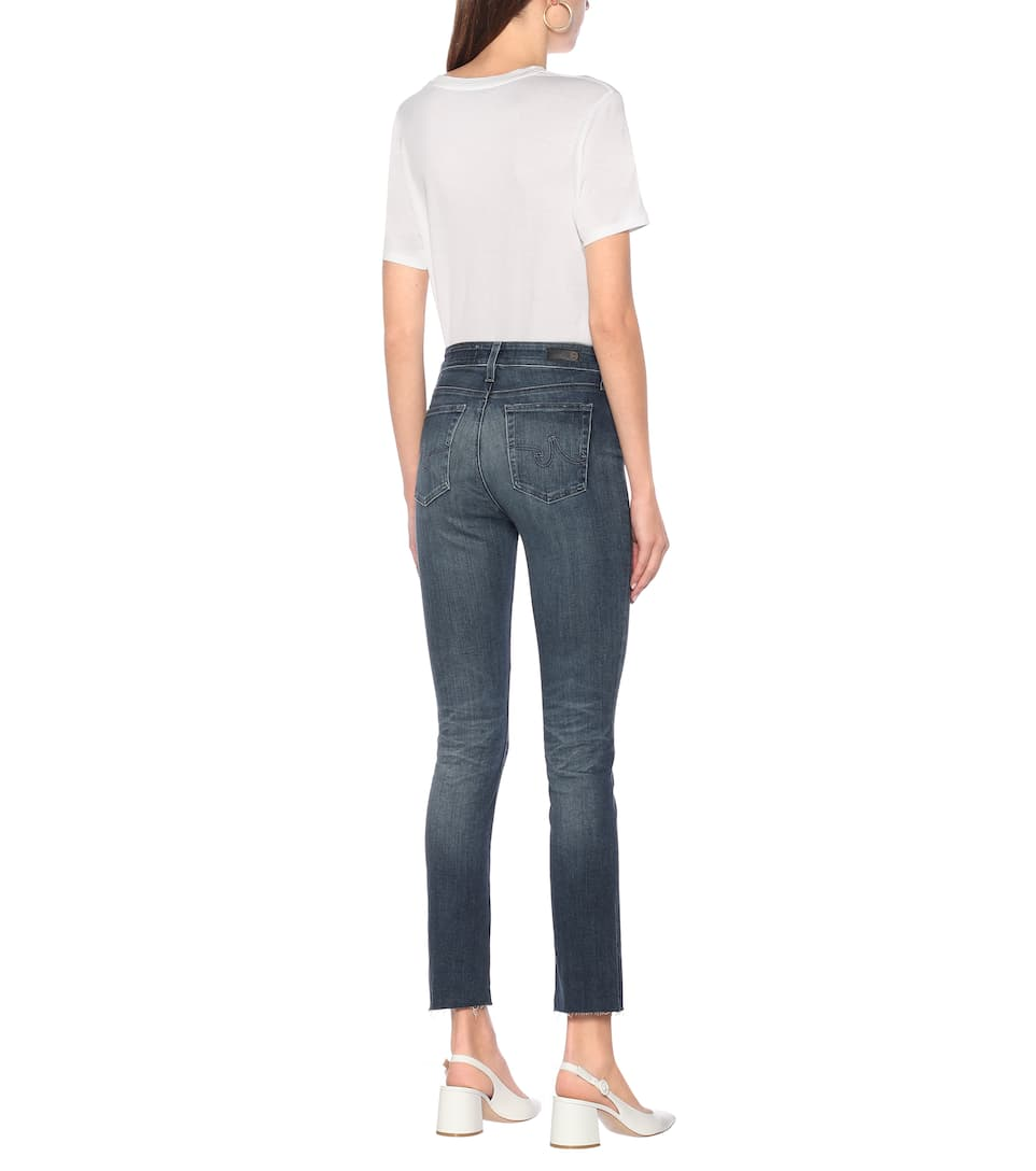 AG Jeans - The Mari high-rise slim jeans