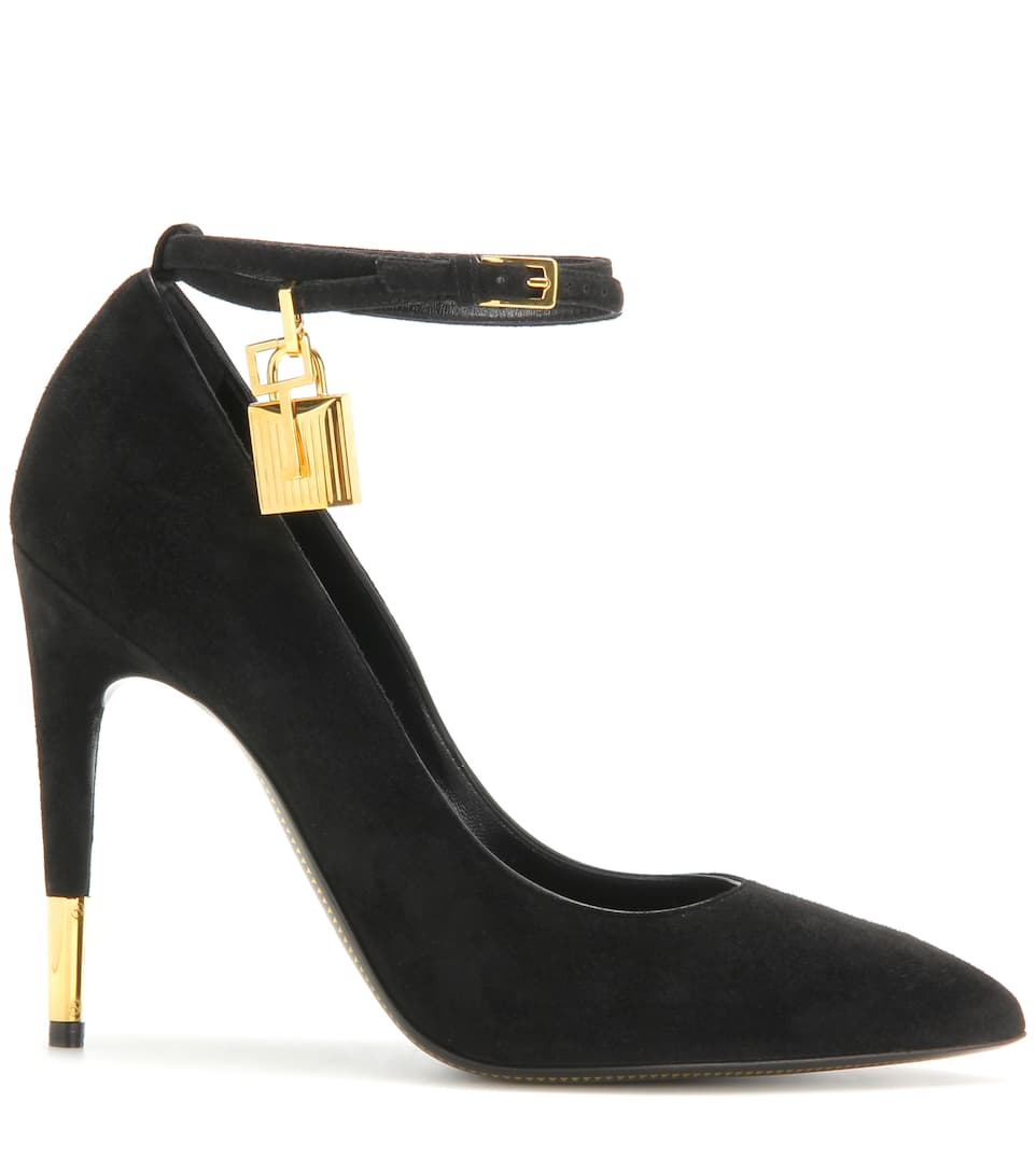 Tom Ford Pumps Padlock aus Veloursleder