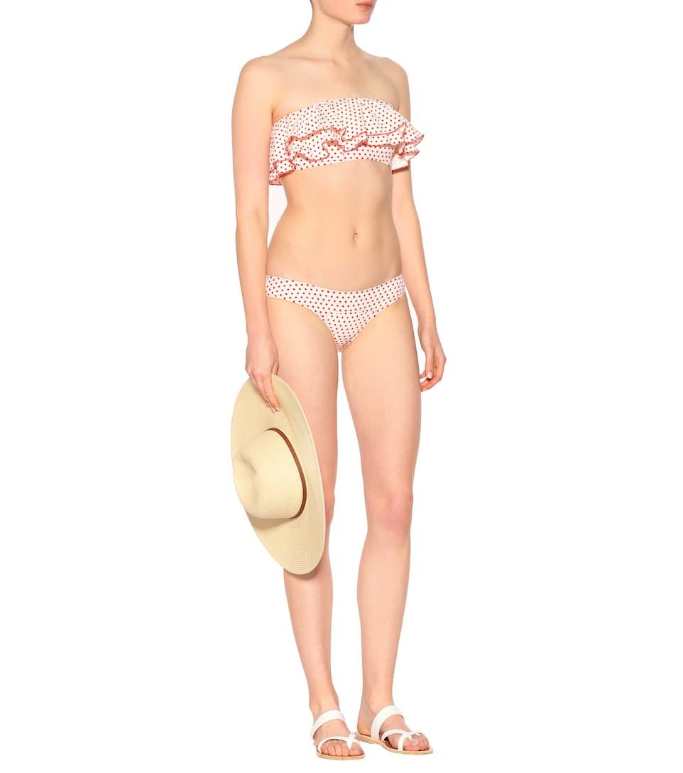 Lisa Marie Fernandez Gepunkteter Bikini Sabine