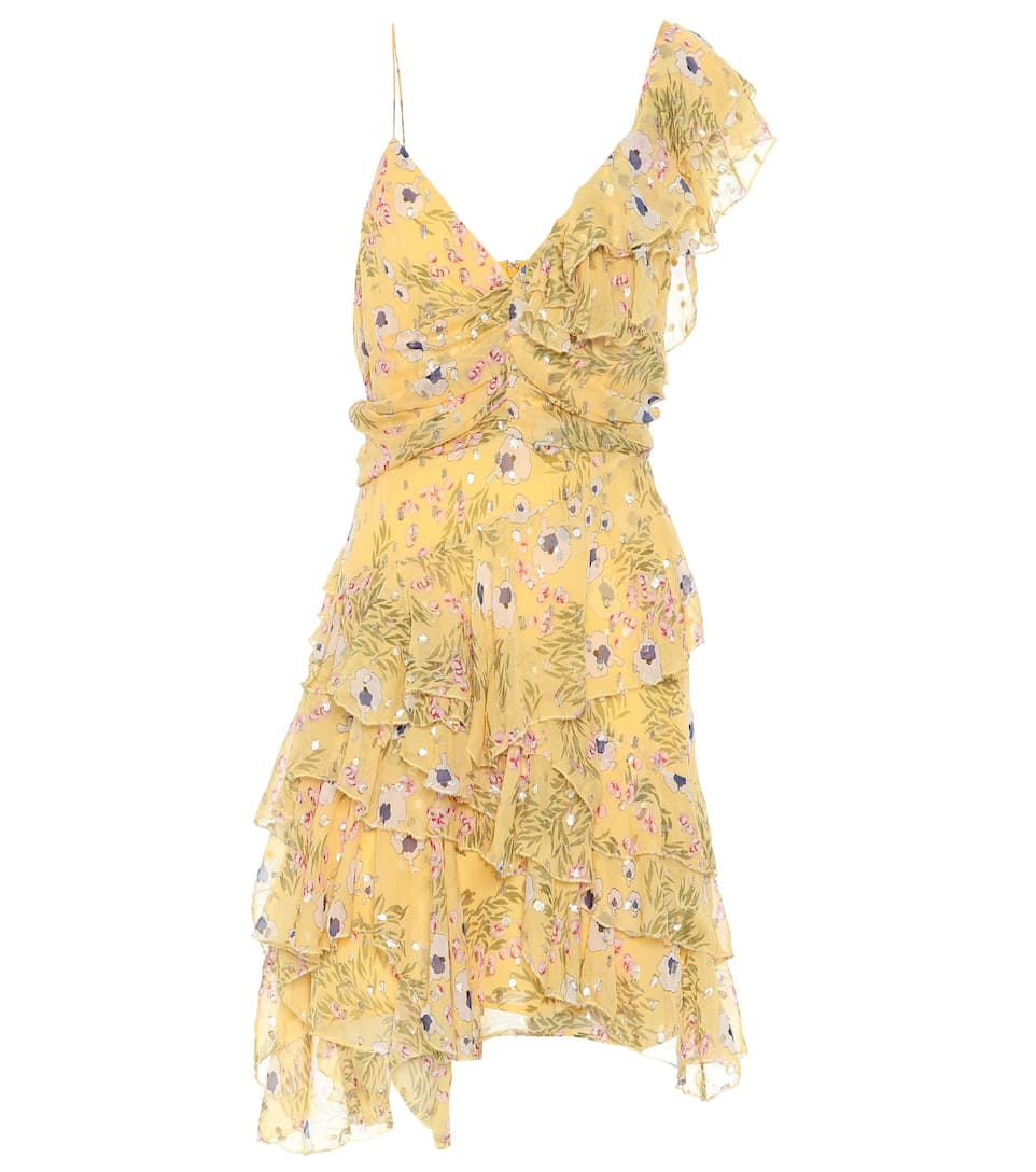 Buy Cheap Low Price Fee Shipping Cheap Price Outlet Sale Manda fil coupé silk-blend dress Isabel Marant psIAPyVZ