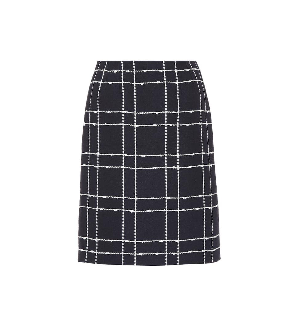 e31a73ffe Checked Denim Skirt - Oscar de la Renta   mytheresa.com