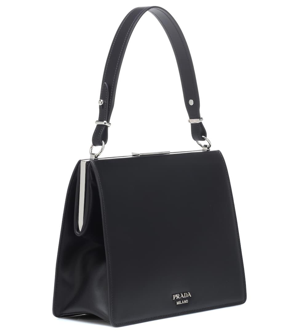 e8138a1e5757 Light Frame Leather Shoulder Bag - Prada