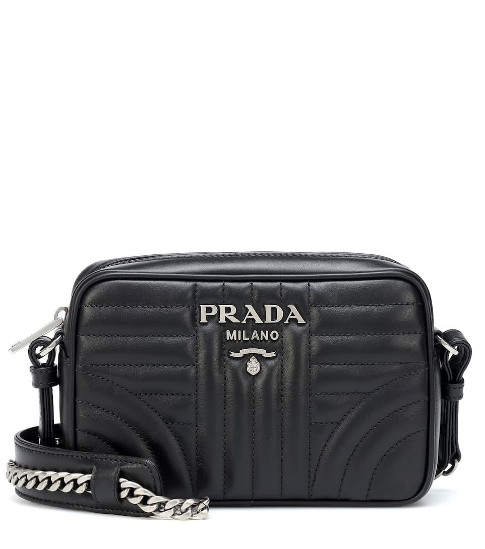 13c897d8c6ae Prada - Diagramme leather crossbody bag | Mytheresa
