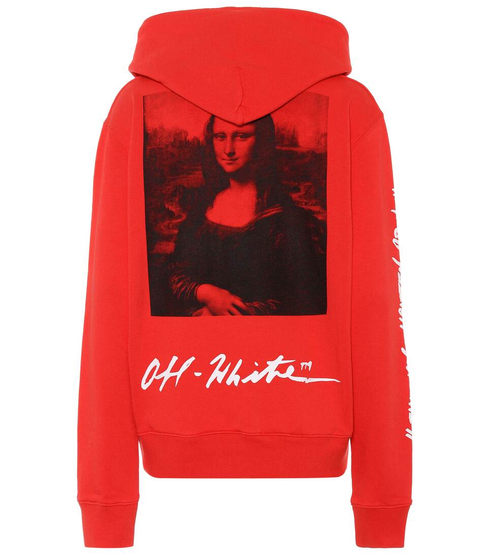 242074064786 Off-White - Printed cotton hoodie