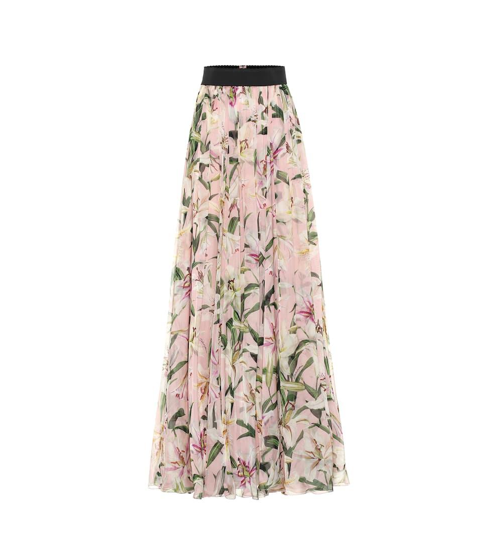 b990e6e4ba Dolce & Gabbana - Floral silk-chiffon maxi skirt | Mytheresa