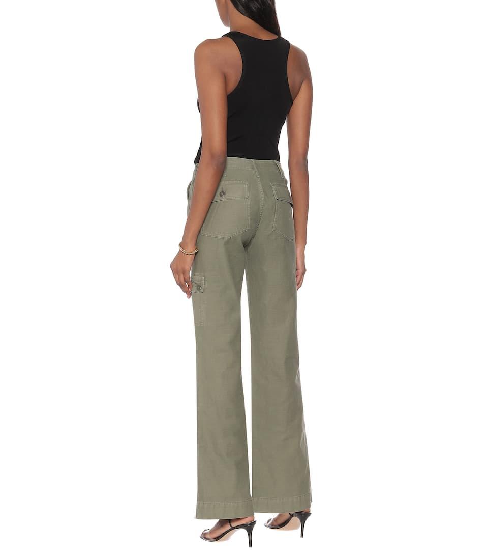 Frame - Le Service cotton wide-leg pants