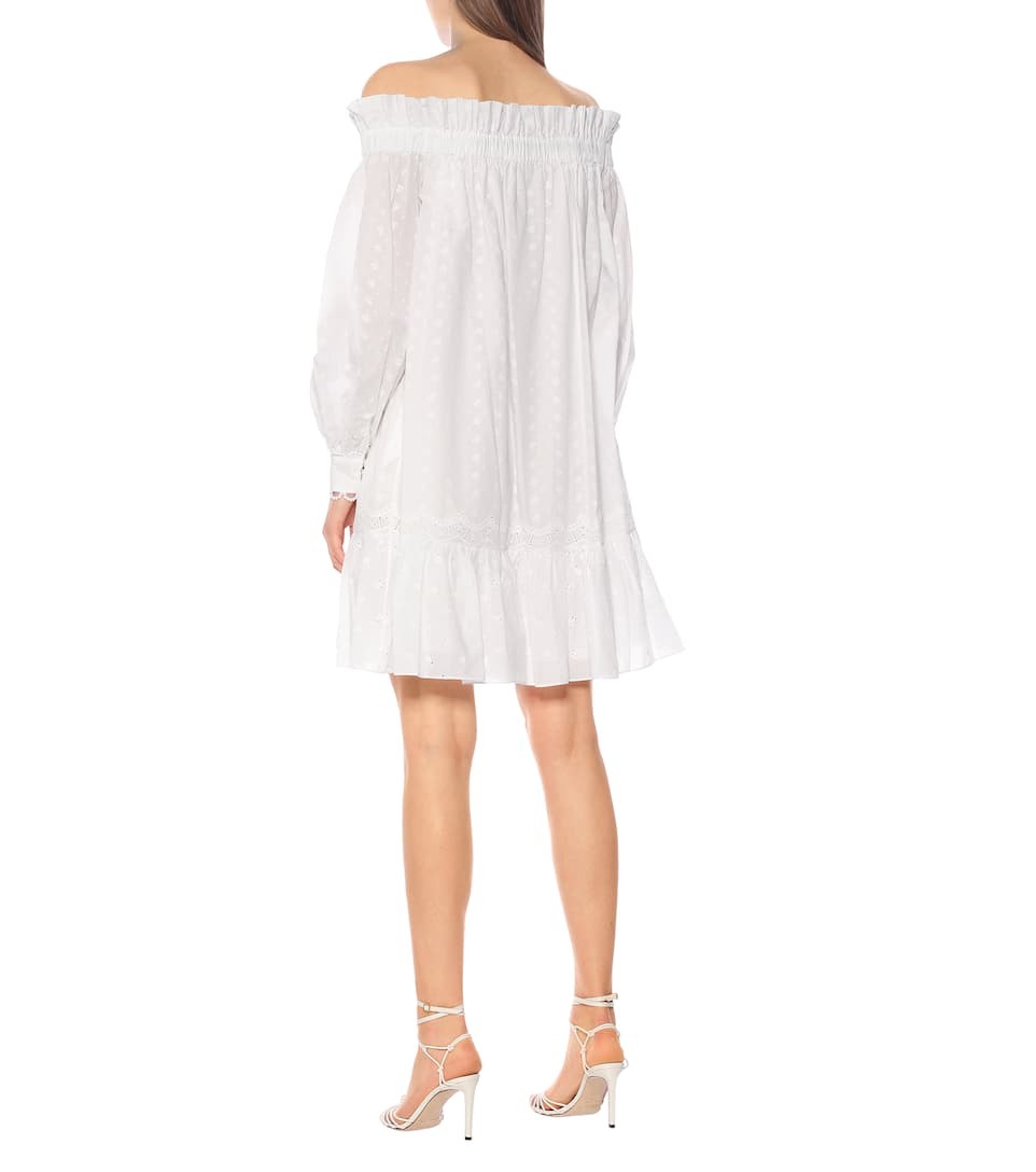Blanca Off-Shoulder Cotton Dress - Erdem