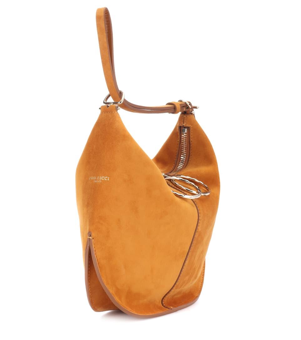 Nina Ricci Schultertasche Kuti Small aus Veloursleder