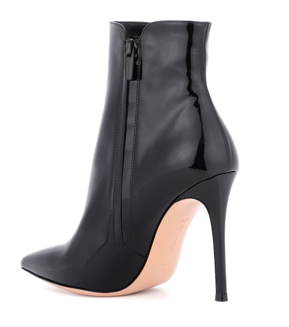 Gianvito Rossi Ankle Boots Levy aus Lackleder