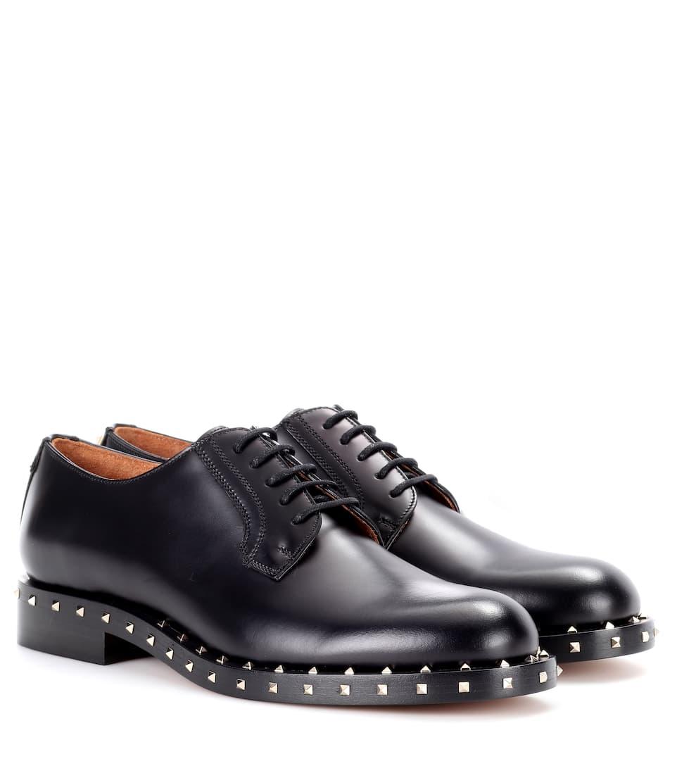 Valentino Valentino Garavani Verzierte Schnürschuhe aus Leder