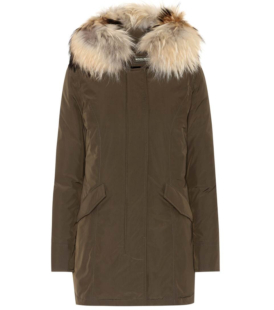 Parka Luxury Arctic Verde W's Donna Scuro Woolrich 8gBxq6Wn4