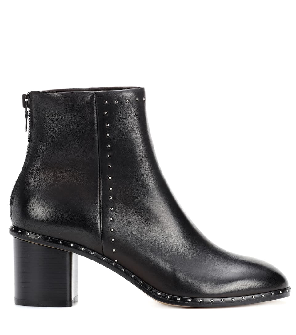 Rag & Bone Ankle Boots Willow aus Leder mit Nieten