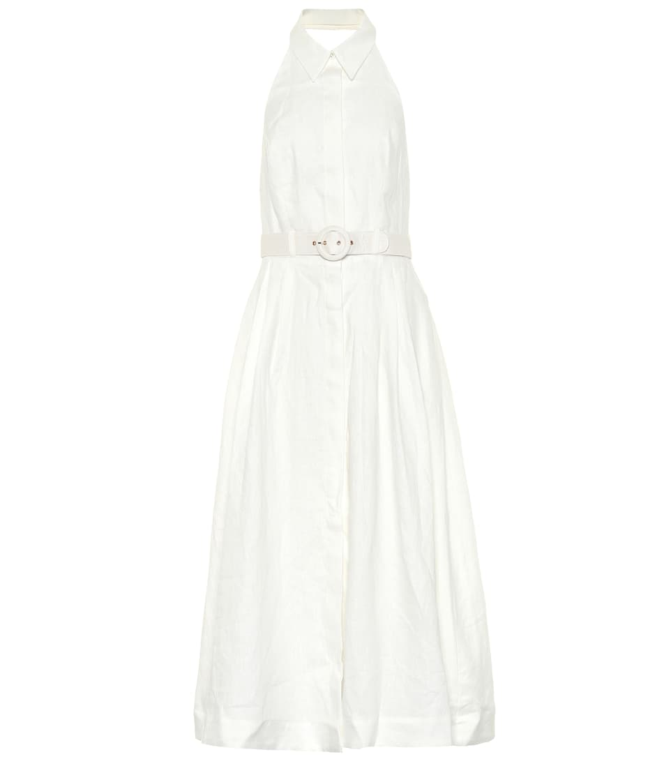 Primrose Linen Halter Dress by Zimmermann