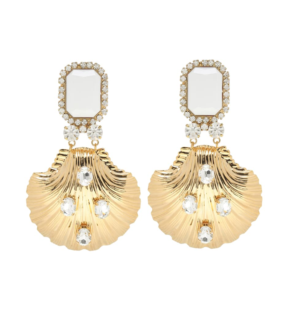 d98b6a2a2d Crystal Drop Clip-On Earrings - Alessandra Rich | mytheresa.com