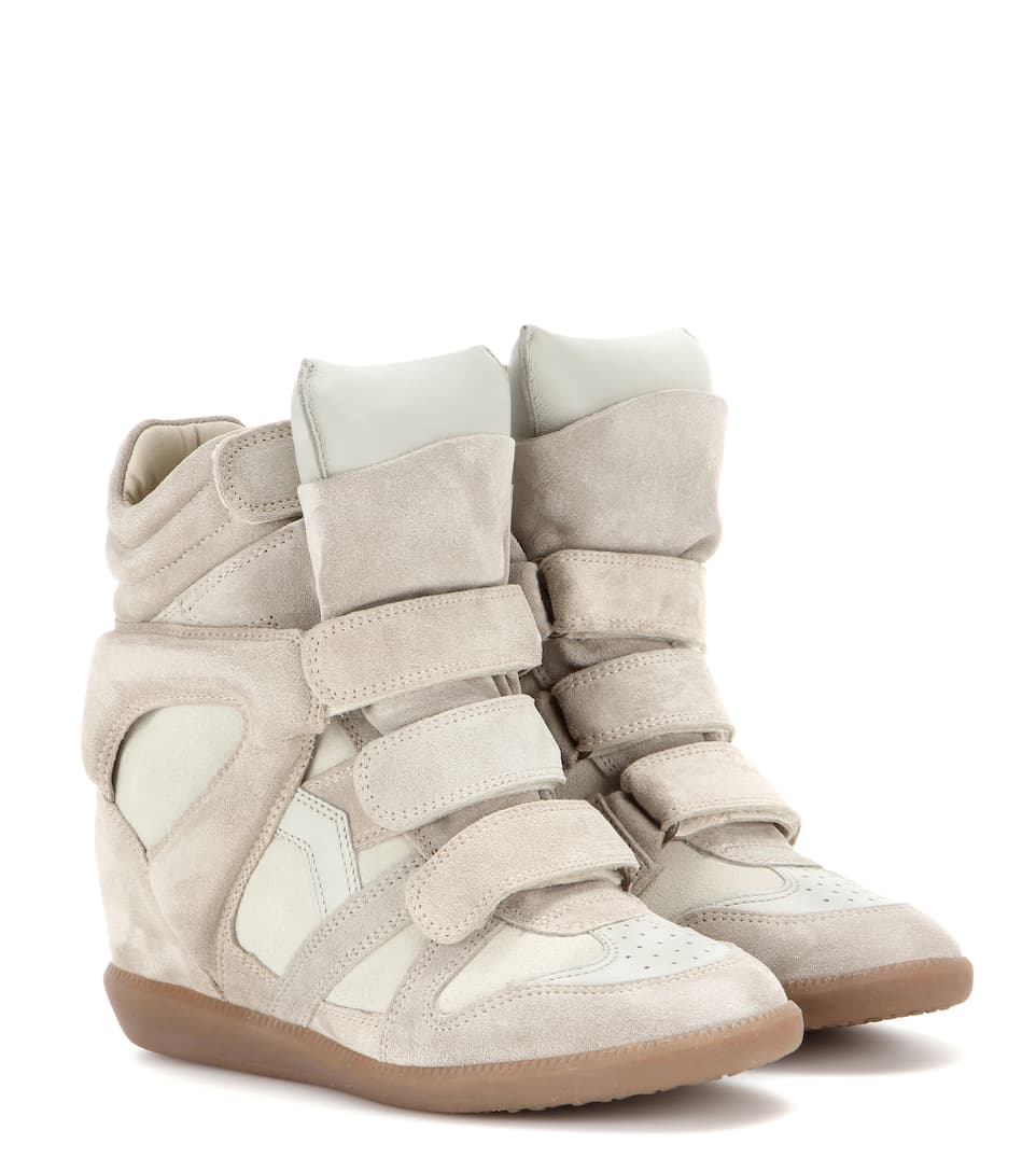 Étoile Bekett leather and suede sneakers Isabel Marant lqrA6b798
