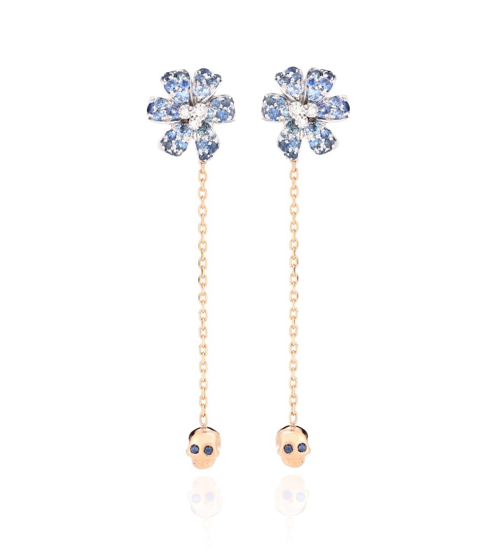 Orecchini Gucci Flora In Oro Rosa 18Kt Con Zaffiri - Gucci ... 61c1388d6310