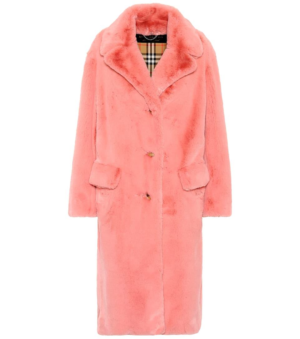 Burberry Mantel aus Faux Fur