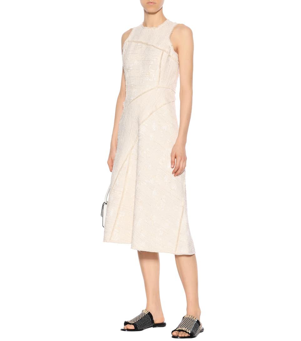 Proenza Schouler Tailliertes Tweed-Kleid in Midilänge