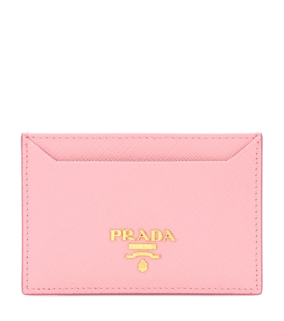 Saffiano Leather Card Holder - Prada | mytheresa.com